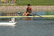 Beijing, CHINA, BUL JM1X, Aleksander ALEXSANDROV, Gold Medallist Men's single Scull, at  the  2007. FISA Junior World Rowing Championships,  Shunyi Water Sports Complex. 11/08/2007 [Photo, Peter Spurrier/Intersport-images]..... , Rowing Course, Shun Yi Water Complex, Beijing, CHINA,