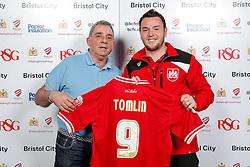 Lee Tomlin of Bristol City poses during the Player Sponsors' Evening in the Sports Bar & Grill at Ashton Gate - Mandatory byline: Rogan Thomson/JMP - 11/04/2016 - FOOTBALL - Ashton Gate Stadium - Bristol, England - Bristol City Player Sponsors' Evening.
