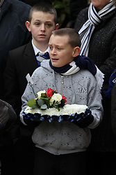 © under license to London News Pictures. 26/1/2011.The funeral of Bolton Wonderers and England star, Nat Lofthouse at Bolton Parish Church today (26/01/2011) Nat died at the age of 85. Photo credit should read:Joel Goodman/LNP