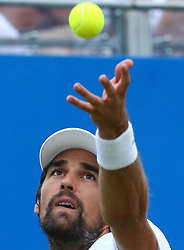 June 22, 2017 - London, United Kingdom - Jeremy Chardy (FRA) against Feliciano Lopez ESP during Men's Singles Round Two match on the fourth day of the ATP Aegon Championships at the Queen's Club in west London on June 22, 2017  (Credit Image: © Kieran Galvin/NurPhoto via ZUMA Press)