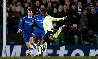 Photo: Richard Lane.<br />Chelsea v Barcelona. UEFA Champions League. 22/02/2006.<br />Barcelona's Samuel Eto'o has a shot.