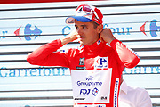 Podium, Rudy Molard (FRA - Groupama - FDJ) red jersey, during the UCI World Tour, Tour of Spain (Vuelta) 2018, Stage 7, Puerto Lumbreras - Pozo Alcon 185,7 km in Spain, on August 31th, 2018 - Photo Luca Bettini / BettiniPhoto / ProSportsImages / DPPI