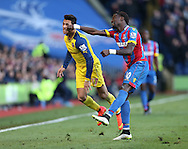 Crystal Palace's Pape Souare appears to lash out at Arsenal's Alexis Sanchez<br /> <br /> Barclays Premier League - Crystal Palace  vs Arsenal  - Selhurst Park - England - 21st February 2015 - Picture David Klein/Sportimage