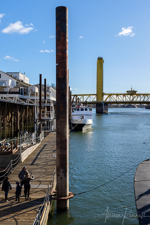 Scenes and details from the Old Sacramento Historic District on a bright, cold February day.