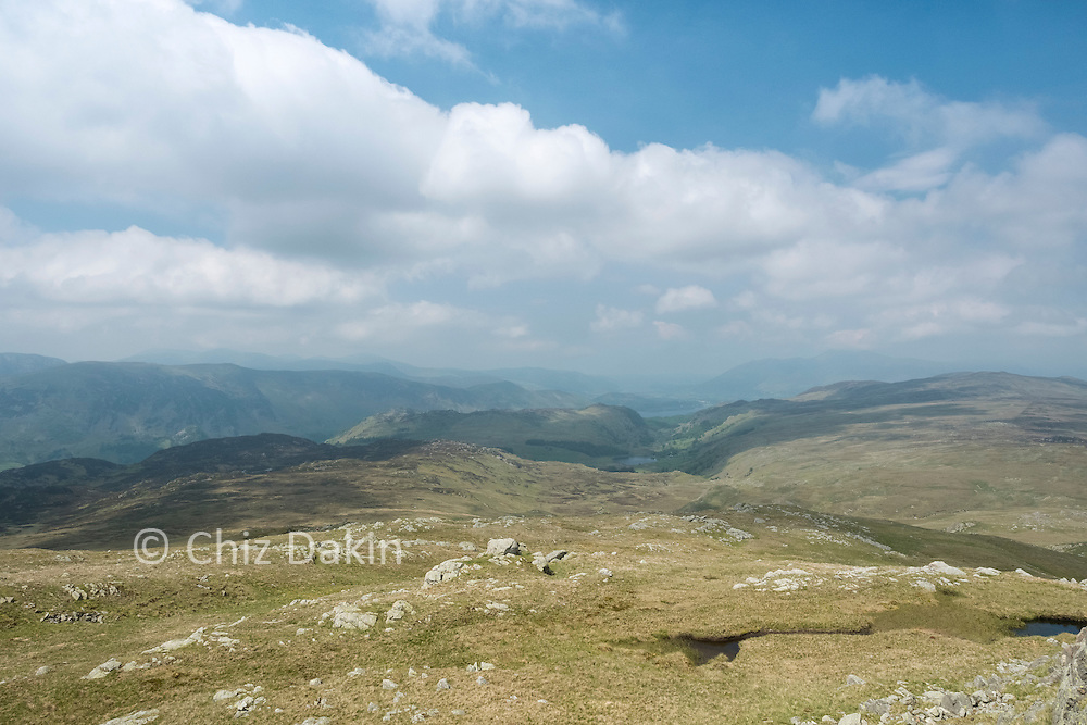 Borrowdale and Watendlath from the summit of Low Saddle
