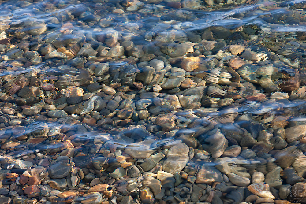 """""""Pebbles in Lake Tahoe 1"""" - These pebbles under the water were photographed near Kaspian Point in Lake Tahoe, CA."""
