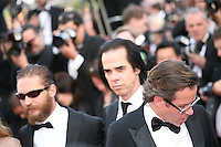 Tom Hardy, Nick Cave, Guy Pearce attend the gala screening of Lawless at the 65th Cannes Film Festival. The screenplay for the film Lawless was written by Nick Cave and Directed by John Hillcoat. Saturday 19th May 2012 in Cannes Film Festival, France.