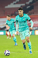 Portrait of Liverpool defender Ozan Kabak (19) during the Premier League match between Sheffield United and Liverpool at Bramall Lane, Sheffield, England on 28 February 2021.