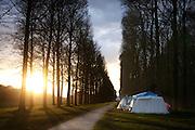 Het kamp van Occupy in Soestdijk. De actievoerders hebben erg veel last van pesterijen door het uitgaanspubliek.<br /> <br /> Camp of Occupy Soestdijk.