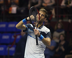 September 22, 2018 - St. Petersburg, Russia - Russian Federation. St. Petersburg. Sibur Arena. Tennis. Tenis tournament St. Petersburg Open 2018. Tennis Martin Klizhan. (Credit Image: © Russian Look via ZUMA Wire)