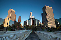 US Bank Tower and 4th Street Bridge, Downtown Los Angeles, California