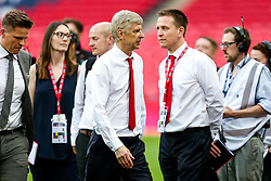 Arsenal manager Arsene Wenger leaves the pitch with uncertainty surrounding his future after Arsenal win the match 2-0 to become FA Cup Winners - Rogan Thomson/JMP - 27/05/2017 - FOOTBALL - Wembley Stadium - London, England - Arsenal v Chelsea - FA Cup Final.