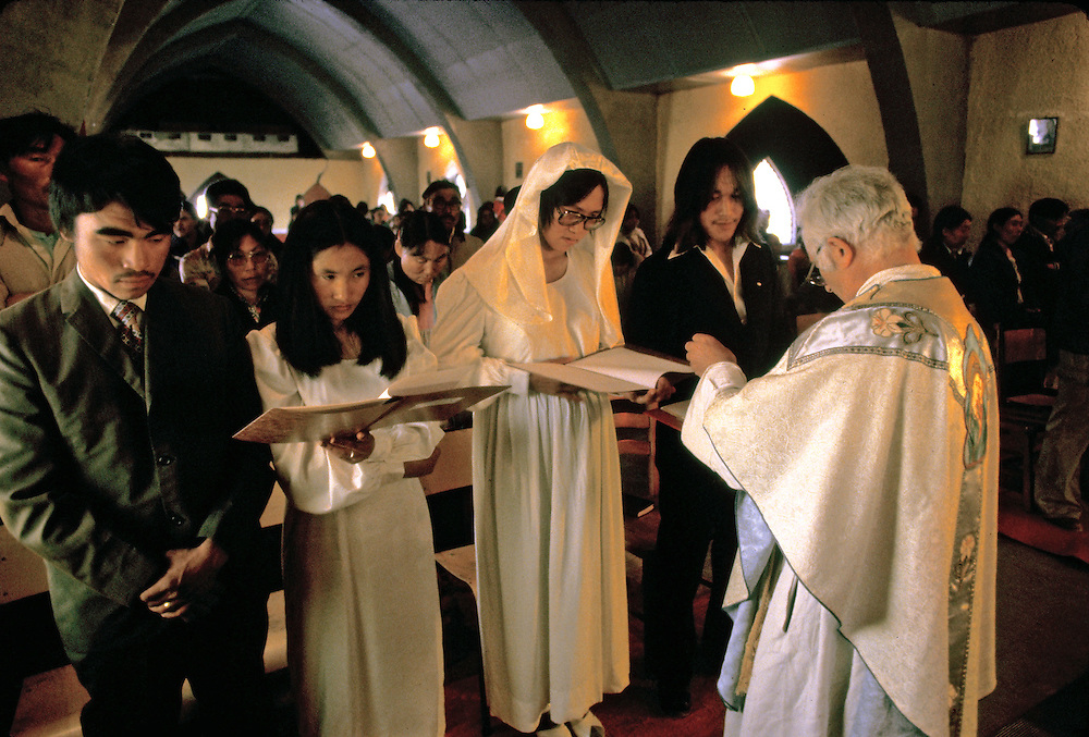 Images from assignment work in Igloolik, Eastern Canadian Artic, in 1985-1986.  Igloolik is an Inuit community with traditional hunting and fishing and a strong sense of self government.  Father LaShaw performs wedding.
