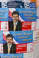 political poster for Janusz Bargiel displayed in Kazimierz Krakow Poland