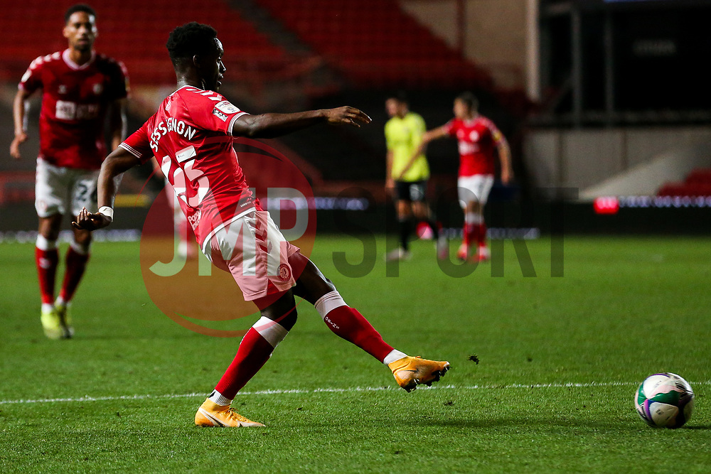Steven Sessegnon of Bristol City - Rogan/JMP - 16/09/2020 - Ashton Gate Stadium - Bristol, England - Bristol City v Northampton Town - Carabao Cup Second Round.