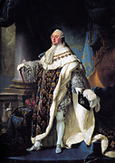 Louis Vie painted in 1701 by Antoine-François Callet (1741-1823) French painter. Louis XVI of France (1754 – 1793) ruled as King of France 1774 until 1792. He was arrested during the Revolution of 1792 and executed on 21 January 1793.