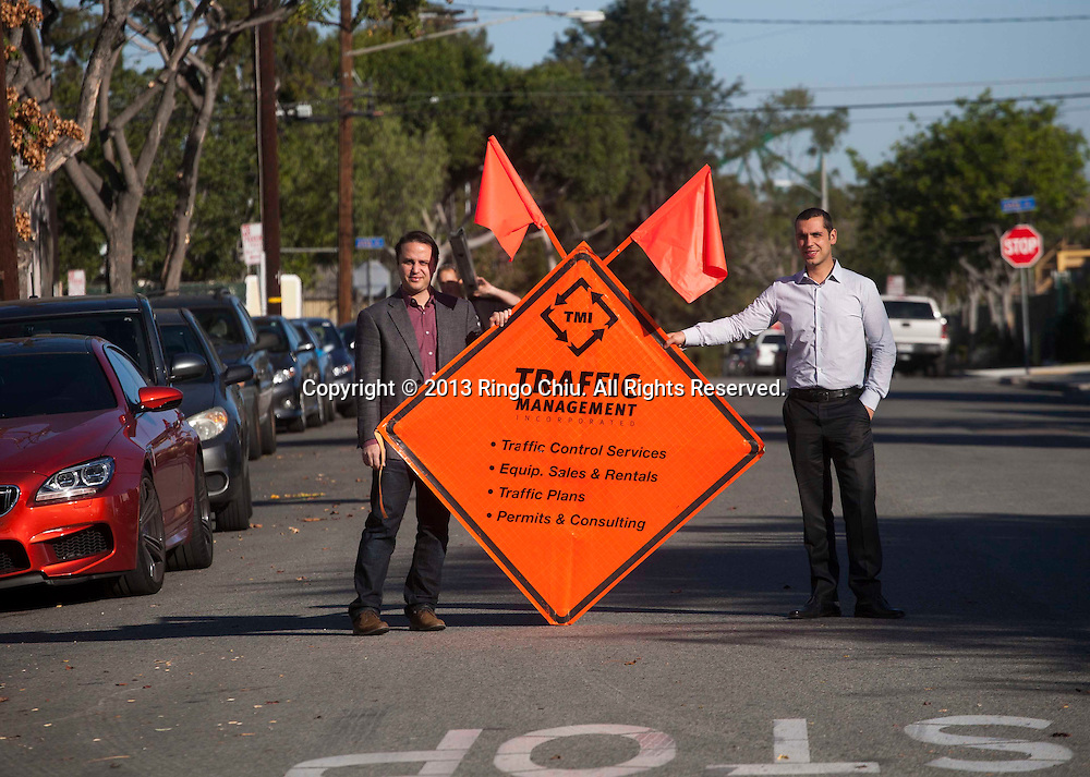 Brothers Chris. left, and Jonathan Spano, owners of Traffic Management Inc. (Photo by Ringo Chiu/PHOTOFORMULA.com)