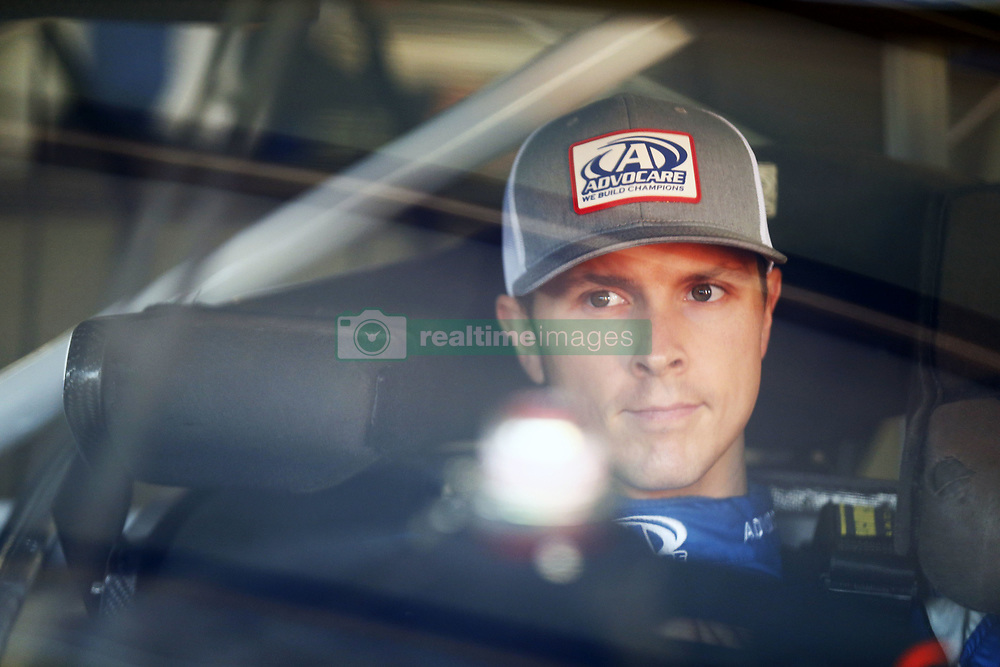 September 23, 2017 - Loudon, New Hampshire, United States of America - September 23, 2017 - Loudon, New Hampshire, USA: Trevor Bayne (6) hangs out in the garage during practice for the ISM Connect 300 at New Hampshire Motor Speedway in Loudon, New Hampshire. (Credit Image: © Justin R. Noe Asp Inc/ASP via ZUMA Wire)