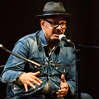 Barry Adamson (former Magazine bassist) speaking at the press launch for the Thirty One album raising money for CALM and raising awareness of the number one killer of young men in the UK - Suicide