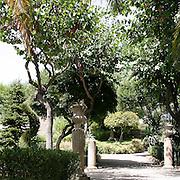 Giardini Iblei parco comunale a Ragusa Ibla..Iblei Gardens, public park in Ragusa Ibla