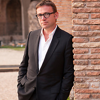 David Nicholls, writer, at the Basilica of Maxentius for the Rome International Literature Festival. Rome, Italy. Taken 29th May 2012<br /> <br /> Picture by Steve Bisgrove/Writer Pictures<br /> <br /> WORLD RIGHTS