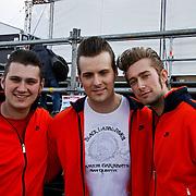 NLD/Amsterdam/20100430 - Radio 538 Koniginnedag Concert 2010, The Baseballs, Sam (Sven Budja), Digger (Rüdiger Brans), Basti (Sebastian Raetzel)