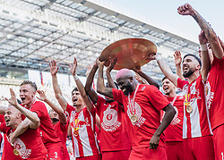 26.05.2019, Red Bull Arena, Salzburg, AUT, 1. FBL, FC Red Bull Salzburg Meisterfeier, im Bild Jerome Onguene (FC Red Bull Salzburg), Munas Dabbur (FC Red Bull Salzburg) // during the Austrian Football Bundesliga Championsship Celebration at the Red Bull Arena in Salzburg, Austria on 2019/05/26. EXPA Pictures © 2019, PhotoCredit: EXPA/ JFK