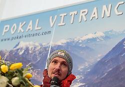 04.03.2017, Podkoren, Kranjska Gora, SLO, FIS Weltcup Ski Alpin, Kranjska Gora, Riesenslalom, Herren, Pressekonferenz, im Bild Marcel Hirscher (AUT, 1. Platz) // race winner Marcel Hirscher of Austria during a pressconference for the men's Giant Slalom of FIS ski alpine world cup at the Podkoren in Kranjska Gora, Slovenia on 2017/03/04. EXPA Pictures © 2017, PhotoCredit: EXPA/ Johann Groder