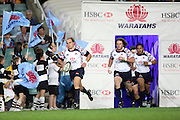 Phil Waugh leads out the Waratahs. NSW Waratahs v Hurricanes. 2010 Super 14 Rugby Union round 14 match played at the Sydney Football Stadium, Moore Park Australia. Friday 14 May 2010. Photo: Clay Cross/PHOTOSPORT