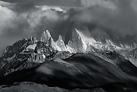 Fitz Roy emerges from the clouds, Los Glaciares National Park, Argentina
