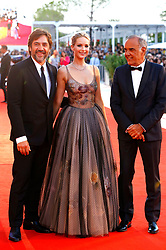 September 5, 2017 - Venice, Venetien, Italy - Javier Bardem, Jennifer Lawrence and Alberto Barbera attending the 'Mother!' premiere at the 74th Venice International Film Festival at the Palazzo del Cinema on September 05, 2017 in Venice, Italy (Credit Image: © Future-Image via ZUMA Press)