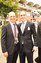 Left to right, MATT DAWSON and JAMES NESBITT at the third day of the 2010 Glorious Goodwood racing festival at Goodwood Racecourse, Chichester, West Sussex on 29th July 2010.