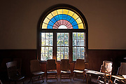 Window 2 on plan. 8'w x approx.10'h (to top of arch)<br /> <br /> Otter Creek Hall, Otter Creek, Maine. Completed 1904.