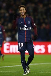 January 27, 2018 - Paris, Ile-de-France, France - Neymar Jr of Paris Saint-Germain reacts  during the Ligue 1 match between Paris Saint Germain and Montpellier Herault SC at Parc des Princes on January 27, 2018 in Paris. (Credit Image: © Mehdi Taamallah/NurPhoto via ZUMA Press)