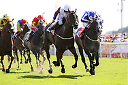 SHINE SO BRIGHT (9) ridden by James Doyle and trained by Andrew Balding winning The Group 2 Sky Bet City Of York Stakes over 7f (£225,000)  during the Ebor Festival at York Racecourse, York, United Kingdom on 24 August 2019.