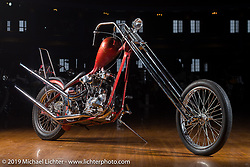 Ben Zale's 1947 Harley-Davidson FL Knucklehead Denver's Chopper original paint survivor at the Mama Tried Show. Milwaukee, WI. USA. Friday February 23, 2018. Photography ©2018 Michael Lichter.