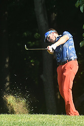July 13, 2018 - Silvis, Illinois, U.S. - SILVIS, IL - JULY 13:  Ricky Barnes hits out of the rough on the #1 hole during the second round of the John Deere Classic on July 13, 2018, at TPC Deere Run, Silvis, IL.  (Photo by Keith Gillett/Icon Sportswire) (Credit Image: © Keith Gillett/Icon SMI via ZUMA Press)