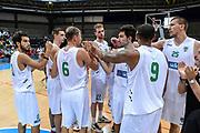 DESCRIZIONE : 3° Torneo Internazionale Geovillage Olbia Sidigas Scandone Avellino - Brose Basket Bamberg<br /> GIOCATORE : Team Sidigas Scandone Avellino<br /> CATEGORIA : Fair Play Postgame<br /> SQUADRA : Sidigas Scandone Avellino<br /> EVENTO : 3° Torneo Internazionale Geovillage Olbia<br /> GARA : 3° Torneo Internazionale Geovillage Olbia Sidigas Scandone Avellino - Brose Basket Bamberg<br /> DATA : 05/09/2015<br /> SPORT : Pallacanestro <br /> AUTORE : Agenzia Ciamillo-Castoria/L.Canu