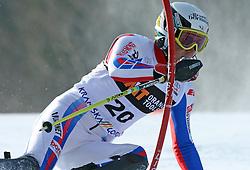 Steve Missillier at first run of 9th men's slalom race of Audi FIS Ski World Cup, Pokal Vitranc,  in Podkoren, Kranjska Gora, Slovenia, on March 1, 2009. (Photo by Vid Ponikvar / Sportida)