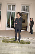 Romain Duris,  on the terrace of the French Ambassador's house to launch Renault French Film tour, Kensington Palace Gdns, 5 March 2003. © Copyright Photograph by Dafydd Jones 66 Stockwell Park Rd. London SW9 0DA Tel 020 7733 0108 www.dafjones.com