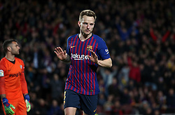 January 30, 2019 - Barcelona, Spain - Ivan Rakitic does not celebrate his goal during the match between FC Barcelona and Sevilla FC, corresponding to the secong leg of the 1/4 final of the spanish cup, played at the Camp Nou Stadium, on 30th January 2019, in Barcelona, Spain. Photo: Joan Valls/Urbanandsport /NurPhoto. (Credit Image: © Joan Valls/NurPhoto via ZUMA Press)