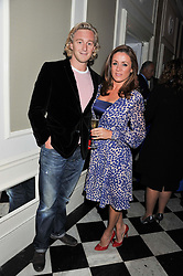NATALIE PINKHAM and OWAIN WALBYOFF at a reception hosted by Beulah London and the United Nations to launch Beulah London's AW'11 Collection 'Clothed in Love' and the Beulah Blue Heart Campaign held at Dorsia, 3 Cromwell Road, London SW7 on 18th October 2011.