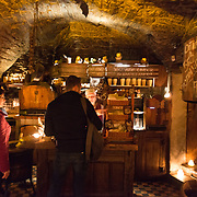 """Counter of the famous medieval """"Third dragon"""" pub and restaurant in Tallinn, Estonia"""