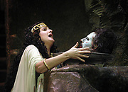 Florida Grand Opera 2003 production of Richard Strauss Salome with Nina Warren as Salome goes mad after requesting the head of Jochanaan at the  Miami Dade County Auditorium in Miami. (El Nuevo Herald Photo/Gaston De Cardenas)