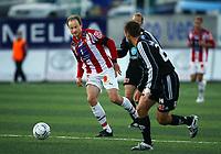 Fotball<br /> Tippeligaen 2007<br /> Tromsø IL v Odd Grenland (2 -4)<br /> 02.09.2007<br /> Foto: Tom Benjaminsen, Digitalsport<br /> <br /> Sigurd Rushfeld (Tromsø), Andrè Muri (Odd), Torjus Hansèn (Odd)