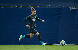 GRÖDIG, AUSTRIA - Tuesday, December 10, 2019: Liverpool's Harvey Elliott during the final UEFA Youth League Group E match between FC Salzburg and Liverpool FC at the Untersberg-Arena. (Pic by David Rawcliffe/Propaganda)
