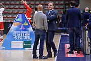 DESCRIZIONE : Campionato 2015/16 Serie A Beko Dinamo Banco di Sardegna Sassari - Consultinvest VL Pesaro<br /> GIOCATORE : Stefano Sardara Dino Seghetti<br /> CATEGORIA : Fair Play Before Pregame<br /> SQUADRA : Dinamo Banco di Sardegna Sassari<br /> EVENTO : LegaBasket Serie A Beko 2015/2016<br /> GARA : Dinamo Banco di Sardegna Sassari - Consultinvest VL Pesaro<br /> DATA : 23/11/2015<br /> SPORT : Pallacanestro <br /> AUTORE : Agenzia Ciamillo-Castoria/L.Canu