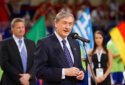 Danilo Tuerk, president of Slovenia during Opening ceremony at the U20 Men European Championship in Slovenia, on July 12, 2012 in Domzale, Slovenia.  (Photo by Vid Ponikvar / Sportida.com)
