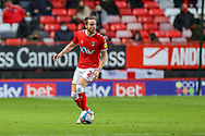 Charlton Athletic defender Chris Gunter (2) during the EFL Sky Bet League 1 match between Charlton Athletic and AFC Wimbledon at The Valley, London, England on 12 December 2020.