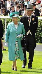 HM THE QUEEN & HRH the DUKE OF EDINBURGH at the first day of the 2010 Royal Ascot Racing festival at Ascot Racecourse, Berkshire on 15th June 2010.